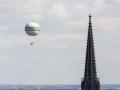Balloon by the church